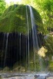 Flot argenté de cascade à écriture ligne par ligne image stock