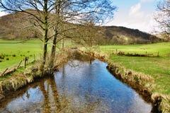 Flot dans le district anglais de lac Image stock