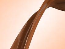 Flot de chocolat chaud Images stock