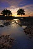 Flot de coucher du soleil Image libre de droits