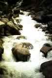 Flot de fleuve de montagne toned excessif Images libres de droits