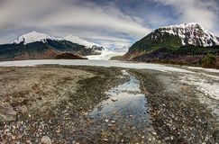 Flot de glacier de Mendenhall Photographie stock libre de droits