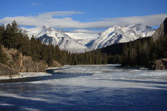 Flot de l'hiver Photos libres de droits