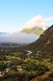 Flot de montagne, couleurs d'automne Images stock
