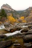 Flot de montagne d'automne Image libre de droits