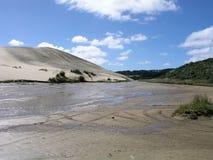 Flot de sable mouvant de Te Paki Photos libres de droits