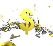 Flot du dollar Illustration Stock