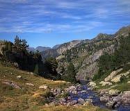 Flot scénique de montagne Photographie stock
