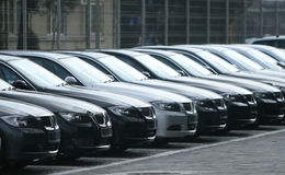 Flota de coches Fotografía de archivo libre de regalías