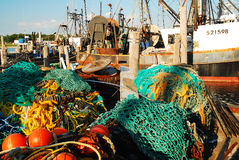 Flota de la pesca profesional imagen de archivo libre de regalías