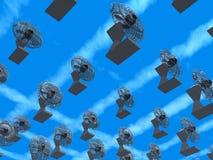 Flota de ventiladores stock de ilustración