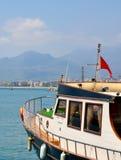 Flota del barco en el puerto Fotografía de archivo libre de regalías