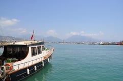 Flota del barco en el puerto Fotografía de archivo