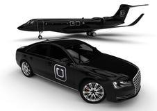 Flota del lujo de Uber stock de ilustración