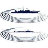 Flota naval Imagen de archivo libre de regalías