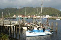 Flota pesquera de Greymouth imagen de archivo libre de regalías