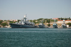 Flota rusa en Crimea imagen de archivo