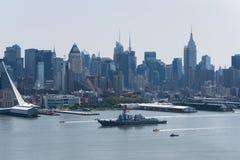 Flota tydzień NYC 2016 - USS Bainbridge obraz royalty free