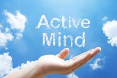 Flotación activa de la palabra de la nube del  de Mind†Fotografía de archivo