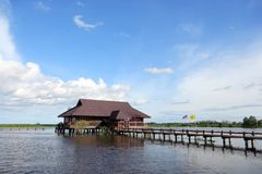 Flotación a casa foto de archivo libre de regalías