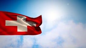 Flotación de la bandera nacional de Dinamarca ilustración del vector