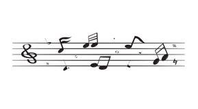 Flotación de las notas de la canción fotos de archivo libres de regalías