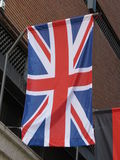 Flotación de Union Jack fotografía de archivo