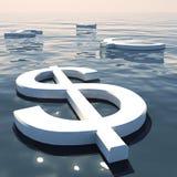 Flotación y dinero en circulación del dólar que salen libre illustration