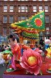 Flotador chino Londres del festival Imagen de archivo