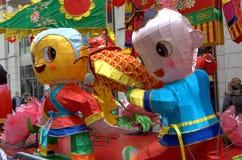 Flotador chino Londres del festival Fotos de archivo libres de regalías