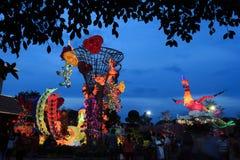 Flotador colorido durante la celebración china del Año Nuevo Fotografía de archivo libre de regalías