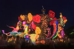 Flotador colorido durante la celebración china del Año Nuevo Foto de archivo libre de regalías