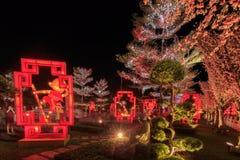 Flotador colorido durante la celebración china del Año Nuevo Foto de archivo