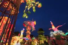 Flotador colorido durante la celebración china del Año Nuevo Imágenes de archivo libres de regalías