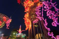 Flotador colorido durante la celebración china del Año Nuevo Fotos de archivo