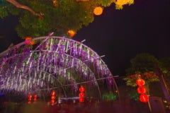 Flotador colorido durante la celebración china del Año Nuevo Fotos de archivo libres de regalías
