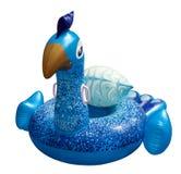 Flotador colorido gigante del pavo real Flotador inflable imagen de archivo libre de regalías