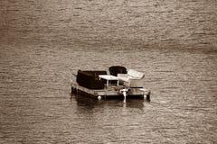 Flotador con algunos sofás imagen de archivo libre de regalías