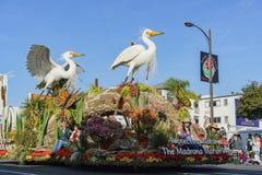 Flotador de alcalde Award en Rose Parade famosa Imágenes de archivo libres de regalías