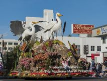 Flotador de alcalde Award en Rose Parade famosa Imagenes de archivo