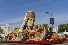 Flotador de Award del juez de Rose Parade famosa Imagen de archivo libre de regalías