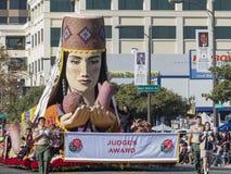 Flotador de Award del juez de Rose Parade famosa Fotografía de archivo libre de regalías