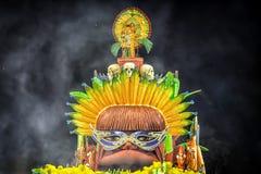 Flotador del Brasil del carnaval Imágenes de archivo libres de regalías