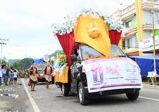 Flotador del desfile de Jawa Tengah imagen de archivo libre de regalías