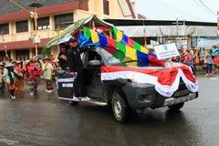 Flotador del desfile de Madiun fotografía de archivo