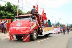 Flotador del desfile de Sulawesi Selatan Foto de archivo libre de regalías
