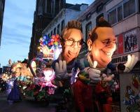 Flotador encendido del carnaval, Aalst 2016 Imagen de archivo libre de regalías