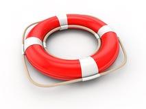 Flotador rojo 3d stock de ilustración