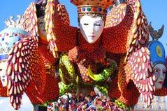 Flotador Viareggio del carnaval foto de archivo