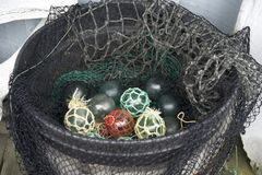 Flotadores de cristal de la pesca Foto de archivo